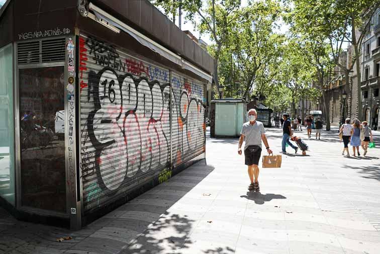 comercios cerrados en barcelona debido a la pandemia