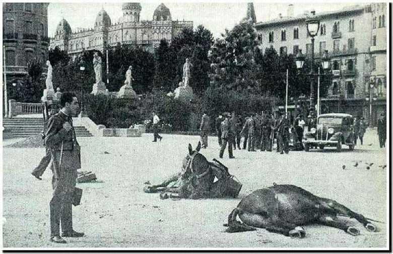 la plaza cataluña en la guerra civil española