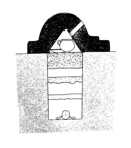 diseño de la cupae, tumba romana